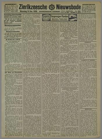 Zierikzeesche Nieuwsbode 1930-12-15