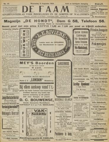 de Faam en de Faam/de Vlissinger 1924-08-13