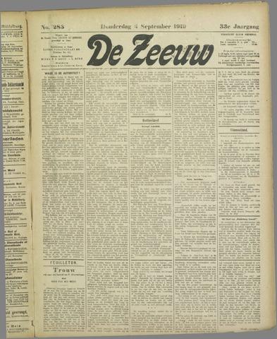 De Zeeuw. Christelijk-historisch nieuwsblad voor Zeeland 1919-09-04
