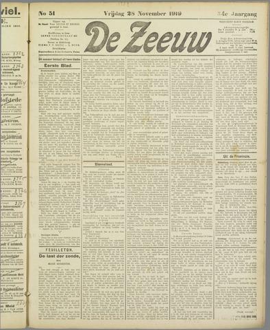 De Zeeuw. Christelijk-historisch nieuwsblad voor Zeeland 1919-11-28