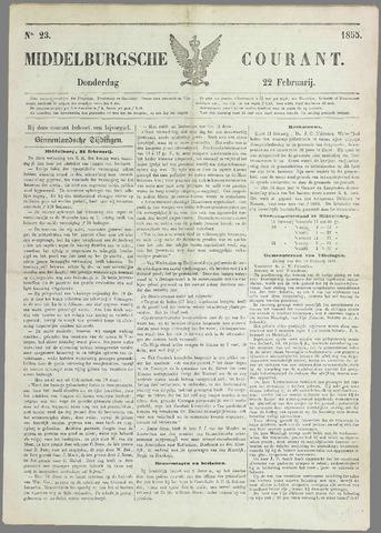 Middelburgsche Courant 1855-02-22