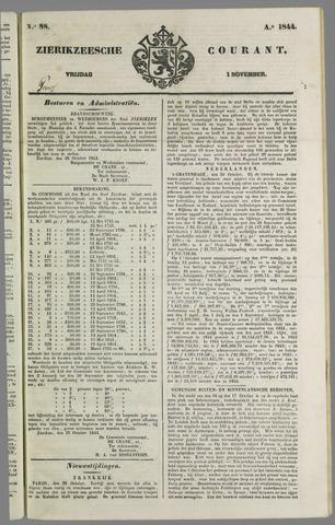 Zierikzeesche Courant 1844-11-01