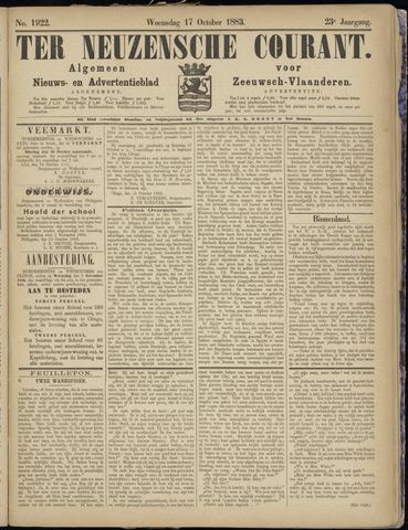 Ter Neuzensche Courant. Algemeen Nieuws- en Advertentieblad voor Zeeuwsch-Vlaanderen / Neuzensche Courant ... (idem) / (Algemeen) nieuws en advertentieblad voor Zeeuwsch-Vlaanderen 1883-10-17