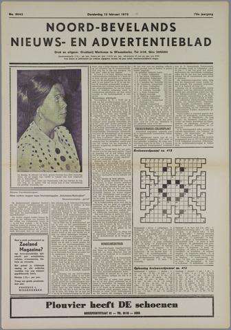 Noord-Bevelands Nieuws- en advertentieblad 1975-02-13