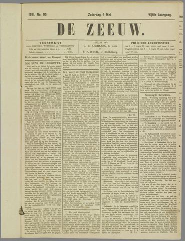 De Zeeuw. Christelijk-historisch nieuwsblad voor Zeeland 1891-05-02
