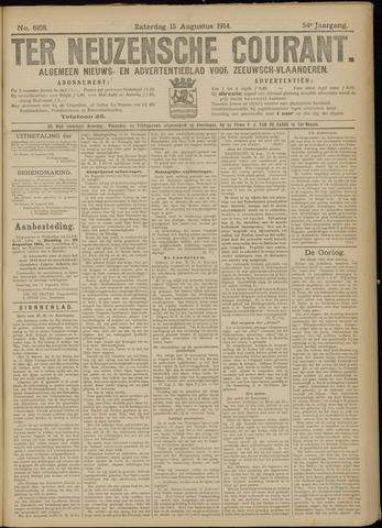 Ter Neuzensche Courant. Algemeen Nieuws- en Advertentieblad voor Zeeuwsch-Vlaanderen / Neuzensche Courant ... (idem) / (Algemeen) nieuws en advertentieblad voor Zeeuwsch-Vlaanderen 1914-08-15