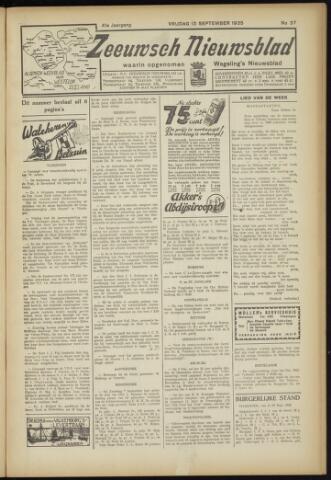 Zeeuwsch Nieuwsblad/Wegeling's Nieuwsblad 1935-09-13
