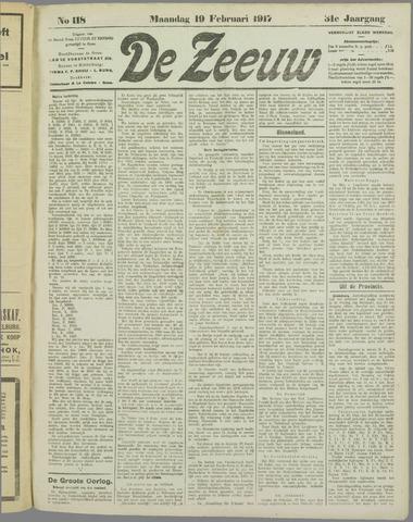De Zeeuw. Christelijk-historisch nieuwsblad voor Zeeland 1917-02-19