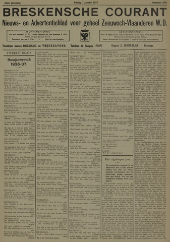 Breskensche Courant 1937-01-01