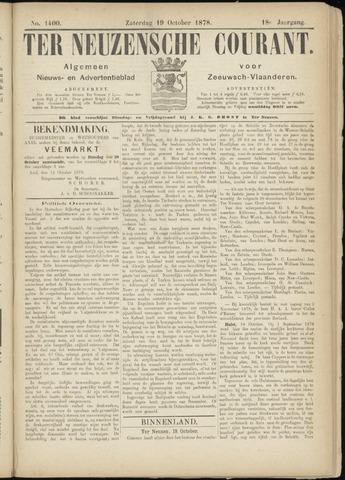 Ter Neuzensche Courant. Algemeen Nieuws- en Advertentieblad voor Zeeuwsch-Vlaanderen / Neuzensche Courant ... (idem) / (Algemeen) nieuws en advertentieblad voor Zeeuwsch-Vlaanderen 1878-10-19