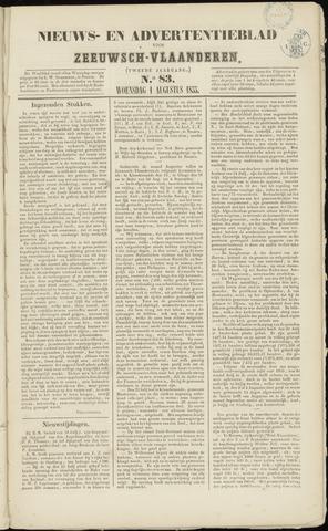 Ter Neuzensche Courant. Algemeen Nieuws- en Advertentieblad voor Zeeuwsch-Vlaanderen / Neuzensche Courant ... (idem) / (Algemeen) nieuws en advertentieblad voor Zeeuwsch-Vlaanderen 1855-08-01