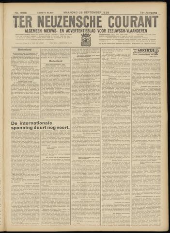 Ter Neuzensche Courant. Algemeen Nieuws- en Advertentieblad voor Zeeuwsch-Vlaanderen / Neuzensche Courant ... (idem) / (Algemeen) nieuws en advertentieblad voor Zeeuwsch-Vlaanderen 1938-09-26