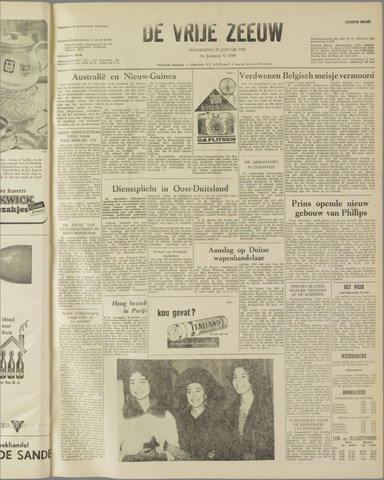 de Vrije Zeeuw 1962-01-25