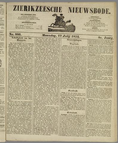 Zierikzeesche Nieuwsbode 1852-07-19