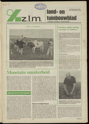 Zeeuwsch landbouwblad ... ZLM land- en tuinbouwblad 1982-06-18