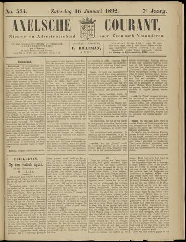 Axelsche Courant 1892-01-16