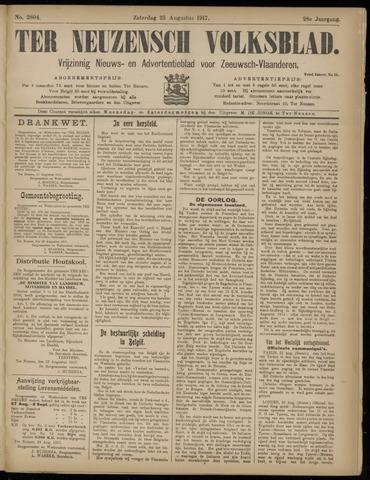 Ter Neuzensch Volksblad. Vrijzinnig nieuws- en advertentieblad voor Zeeuwsch- Vlaanderen / Zeeuwsch Nieuwsblad. Nieuws- en advertentieblad voor Zeeland 1917-08-25