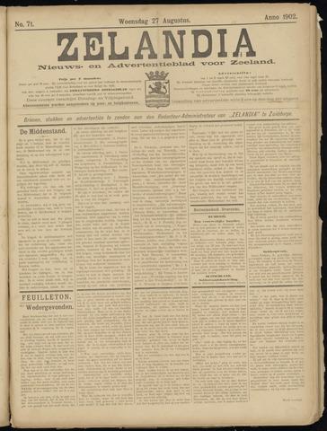Zelandia. Nieuws-en advertentieblad voor Zeeland | edities: Het Land van Hulst en De Vier Ambachten 1902-08-27