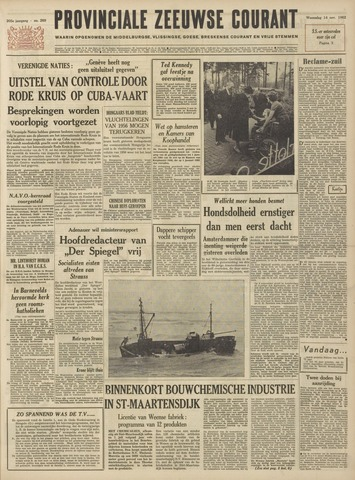 Provinciale Zeeuwse Courant 1962-11-14