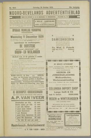 Noord-Bevelands Nieuws- en advertentieblad 1929-10-26