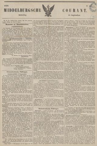 Middelburgsche Courant 1852-09-18