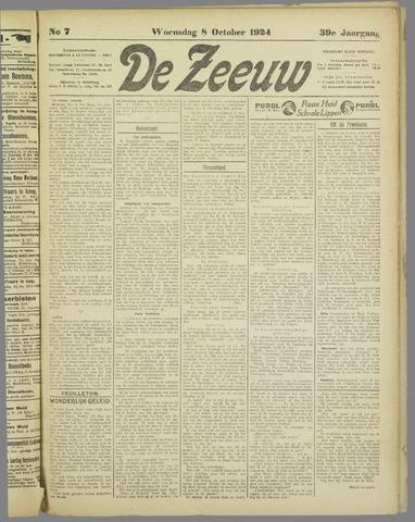 De Zeeuw. Christelijk-historisch nieuwsblad voor Zeeland 1924-10-08