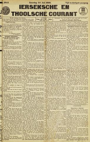 Ierseksche en Thoolsche Courant 1920-07-24