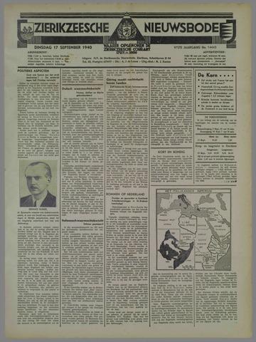 Zierikzeesche Nieuwsbode 1940-09-17