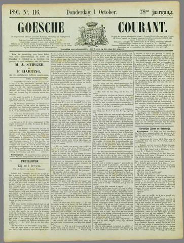 Goessche Courant 1891-10-01