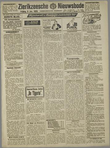 Zierikzeesche Nieuwsbode 1925-01-09