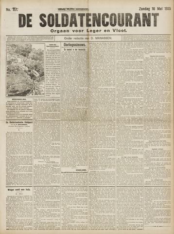 De Soldatencourant. Orgaan voor Leger en Vloot 1915-05-16