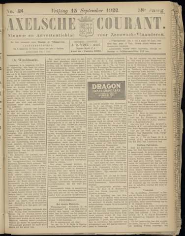 Axelsche Courant 1922-09-15