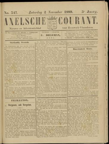 Axelsche Courant 1889-11-02