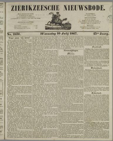 Zierikzeesche Nieuwsbode 1867-07-10