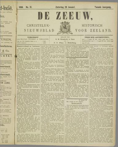 De Zeeuw. Christelijk-historisch nieuwsblad voor Zeeland 1888-01-28