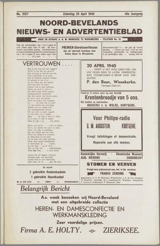 Noord-Bevelands Nieuws- en advertentieblad 1940-04-20