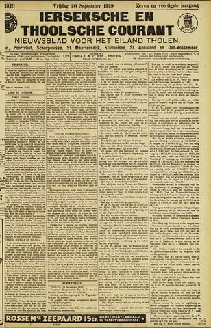Ierseksche en Thoolsche Courant 1929-09-20