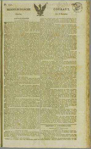 Middelburgsche Courant 1825-11-26
