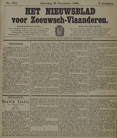 Nieuwsblad voor Zeeuwsch-Vlaanderen 1898-11-26