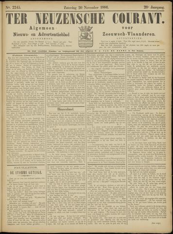 Ter Neuzensche Courant. Algemeen Nieuws- en Advertentieblad voor Zeeuwsch-Vlaanderen / Neuzensche Courant ... (idem) / (Algemeen) nieuws en advertentieblad voor Zeeuwsch-Vlaanderen 1886-11-20