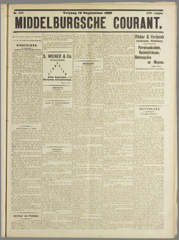 Middelburgsche Courant 1927-09-16