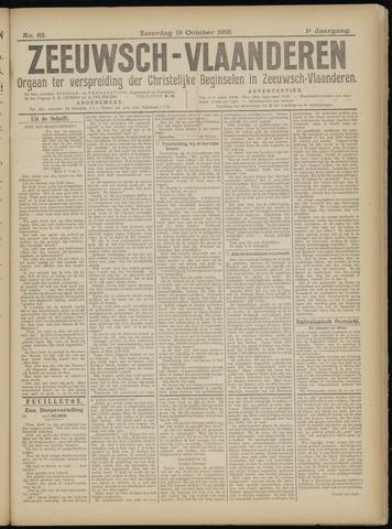 Luctor et Emergo. Antirevolutionair nieuws- en advertentieblad voor Zeeland / Zeeuwsch-Vlaanderen. Orgaan ter verspreiding van de christelijke beginselen in Zeeuwsch-Vlaanderen 1918-10-19