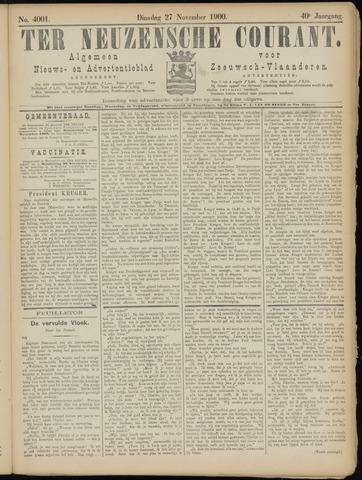 Ter Neuzensche Courant. Algemeen Nieuws- en Advertentieblad voor Zeeuwsch-Vlaanderen / Neuzensche Courant ... (idem) / (Algemeen) nieuws en advertentieblad voor Zeeuwsch-Vlaanderen 1900-11-27