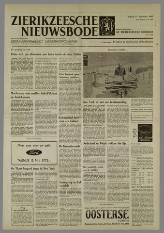 Zierikzeesche Nieuwsbode 1965-09-17