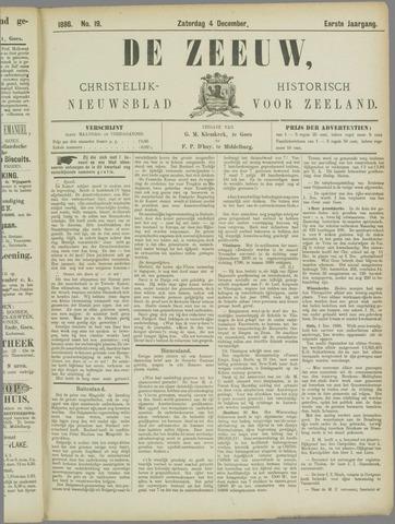 De Zeeuw. Christelijk-historisch nieuwsblad voor Zeeland 1886-12-04