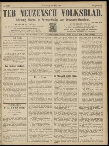 Ter Neuzensch Volksblad. Vrijzinnig nieuws- en advertentieblad voor Zeeuwsch- Vlaanderen / Zeeuwsch Nieuwsblad. Nieuws- en advertentieblad voor Zeeland 1911-06-21