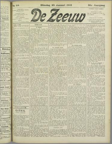 De Zeeuw. Christelijk-historisch nieuwsblad voor Zeeland 1921-01-25
