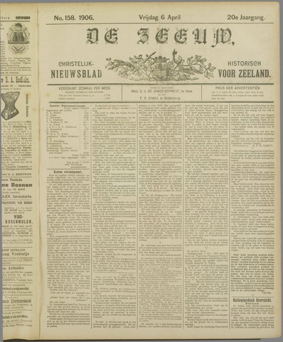 De Zeeuw. Christelijk-historisch nieuwsblad voor Zeeland 1906-04-06