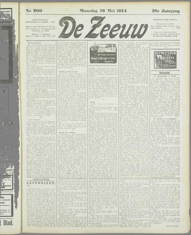 De Zeeuw. Christelijk-historisch nieuwsblad voor Zeeland 1924-05-26