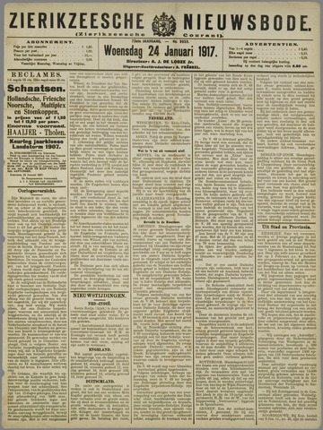 Zierikzeesche Nieuwsbode 1917-01-24